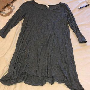 Cute 3 quarter length sleeves tunic dress